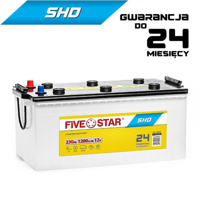 AKUMULATOR FIVE STAR SHD 730 L-230Ah-1200A-C