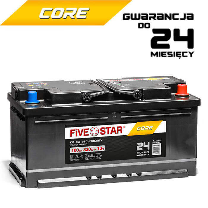 AKUMULATOR FIVE STAR CORE FSC 600 R-100Ah-820A-L5