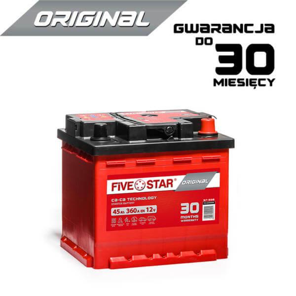 AKUMULATOR FIVE STAR ORIGINAL 545 Rh 45Ah / 360A / L1