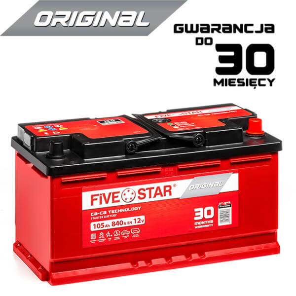 AKUMULATOR FIVE STAR ORIGINAL 605 R 105Ah / 840A / L5