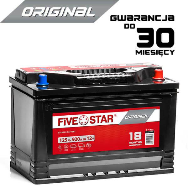 AKUMULATOR FIVE STAR ORIGINAL FSO 625 R 125Ah / 920A / D2