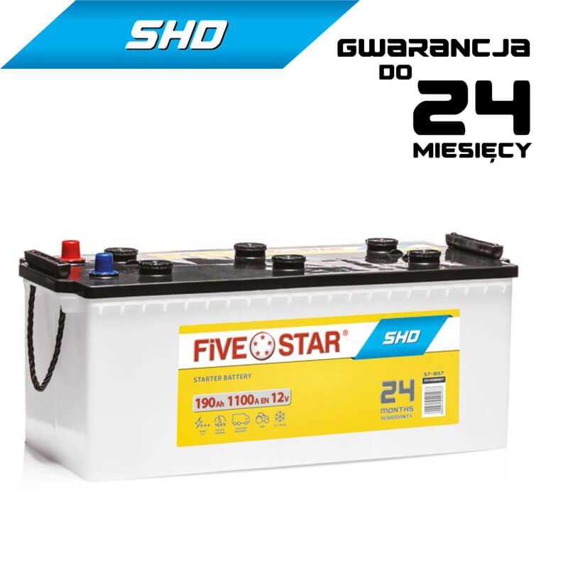 AKUMULATOR FIVE STAR SHD   SHD 690 L-190Ah-1100A-B