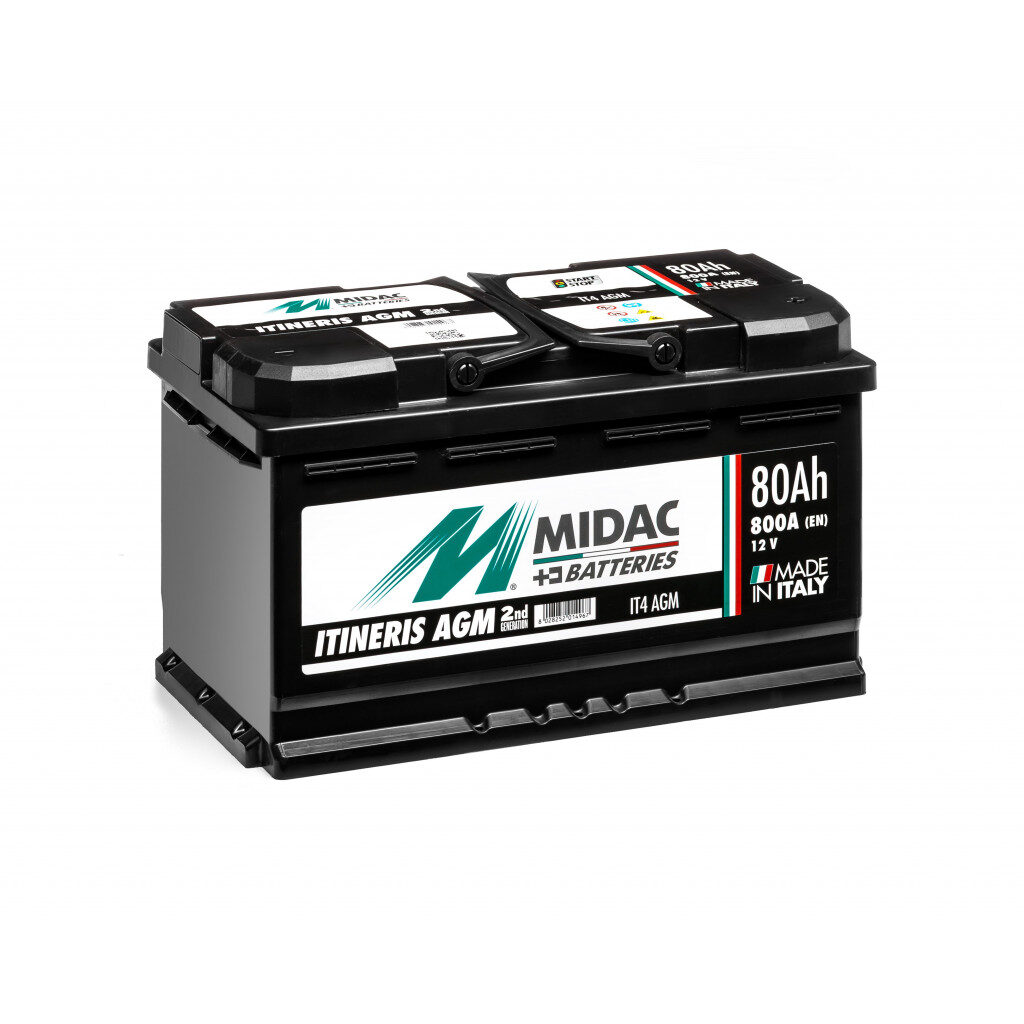 MIDAC - Akumulator ITINERIS IT4 AGM 80Ah / 800A / L4D